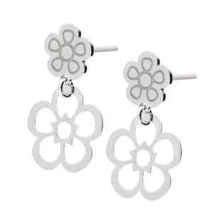 Kolczyki srebrne kwiatek ażur i kwiatek blask/sztyft TA ORT6998 próba 925