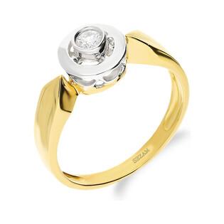 Pierścionek zaręczynowy JUBILE z diamentem DI 117-05 próba 585 Sezam - 1