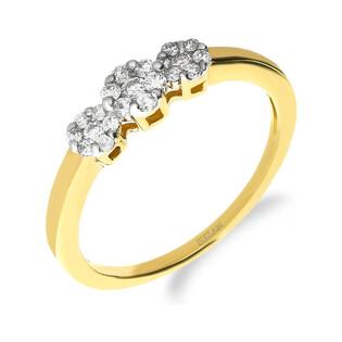 Pierścionek zaręczynowy ANEMON z diamentami DI 237-05 próba 585