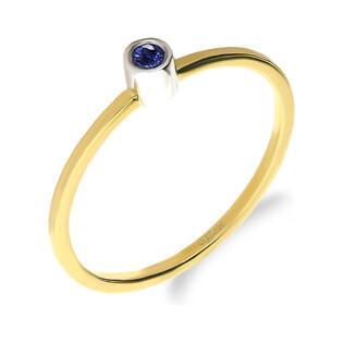 Pierścionek złoty z szafirem 0,05 DI 277-05 szafir próba 585