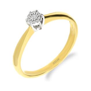 Pierścionek SWEET z diamentami DI 327-05-B próba 585