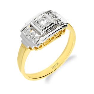 Pierścionek zaręczynowy z diamentami nr DI 650 Sezam - 1