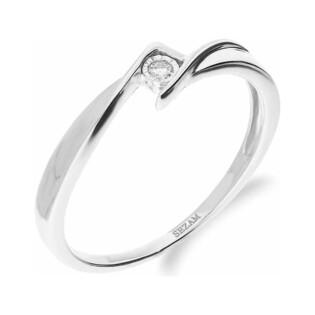 Pierścionek MARIAGE z diamentem KU 55X białe złoto próba 585