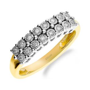 Pierścionek zaręczynowy z diamentami LINE RQ nr 403M próba 585 Sezam - 1