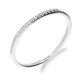 Pierścionek LINE z diamentami KU 8896 białe złoto próba 585
