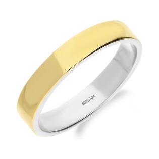 Obrączka złota ze srebrem PX 1010_AU375 blaszka gold próba 925