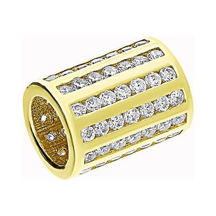 Zawieszka złota walec z cyrkoniami LP 31U25-DCP0071-Y-CZ-PAN próba 375