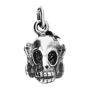Zawieszka srebrna w kształcie czaszki NI XX9 próba 925