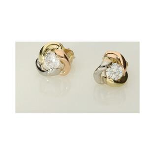 Kolczyki złote w trzech kolorach nr AR I2CE205127-TC-FCZ Au 333 Sezam - 1