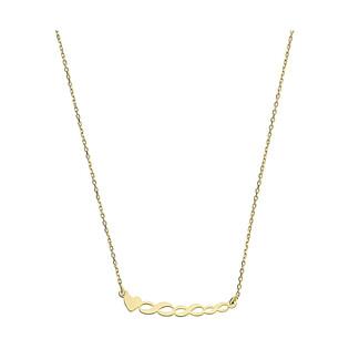 Naszyjnik złoty infinity z sercem nr MZ T23-N-0218-3-LZ próba 585