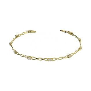 Bransoleta złota z cyrkonia mi nr MZ BX-1034-CZ próba 333 Sezam - 1