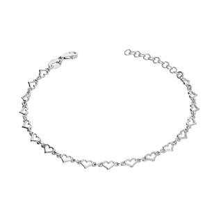 Bransoleta srebrna w kształcie drobnych serc NI605 próba 925