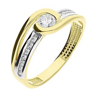 Pierścionek złoty MARIAGE z cyrkoniami S3 SCY-364 próba 585