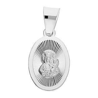 Medalik srebrny Częstochowska owal grawerowany MV MD076 próba 925