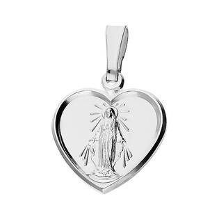 Medalik srebrny Matka Boska Niepokalane serce PW 205 próba 925