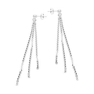 Kolczyki trzy łańcuszki rolo/sztyft BC 1423-050 3F 8cm próba 925