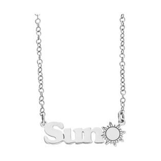 Naszyjnik srebrny z napisem SUN BK 101513 Sun ROD próba 925
