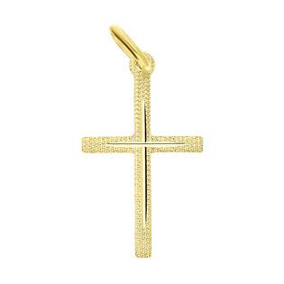 Krzyżyk złoty gładki ramiona kwadratowe CB C-474 próba 585