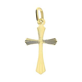 Krzyżyk złoty gładki ramiona w szpic CB C-482 próba 585