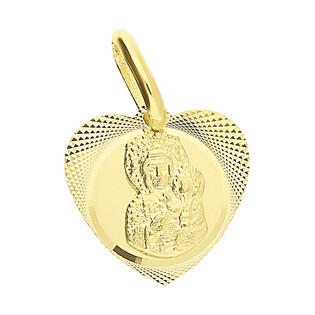 Medalik Częstochowska serce mat dis KM M-0831 próba 333