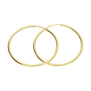 Kolczyki złote kółka szarniry 25 mm DJ120-4 próba 585