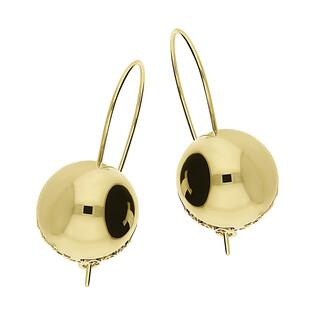 Kolczyki złote kulki 16mm w koszyczku/bigiel DJ123 próba 585
