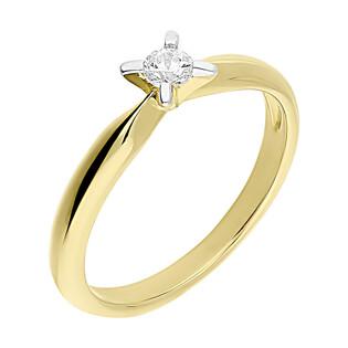 Pierścionek złoty SOLITER cyrkonia 4ł nr DJ PREMIUM254M próba 585