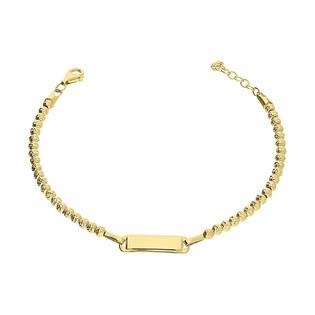 Bransoletka złota z płaską blaszka GS Y-BXC180665 próba 585