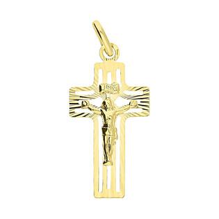 Krzyżyk złoty z wizerunkiem ramona kwadratowe ażur KM C-571 próba 333