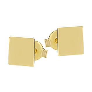Kolczyki pozłacane kwadrat blask/sztyft A6 07180196-00 próba 925