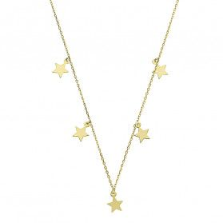 Naszyjnik złoty wiszące gwiazdki MZ T23-N-0218-40-LZ próba 375