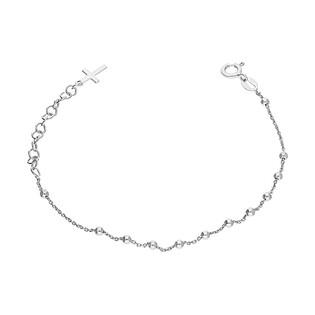 Bransoleta srebrna D&G różaniec paciorki gładkie NI 013-2 próba 925