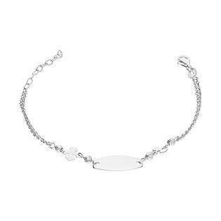 Bransoleta srebrna z blaszką i motywem dziewczynki nr NI371 próba 925