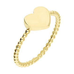 Pierścionek złoty serce blask/szyna beads S3 YZ012 próba 375
