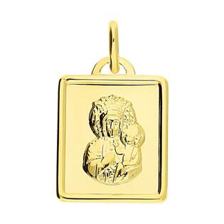 Medalik złoty Częstochowska w prostokącie CB M-1230 próba 333