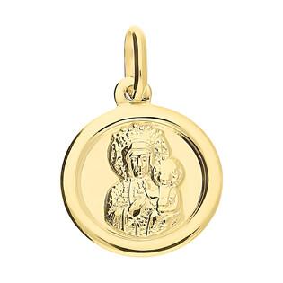 Medalik złoty Częstochowska w kółku CB M-1232 próba 333