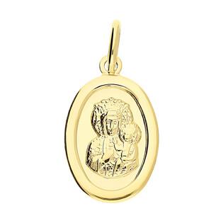 Medalik złoty Częstochowska w owalu CB M-1233 próba 333