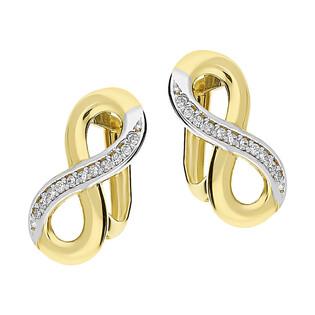 Kolczyki złote infinity blask z cyrkoniami w rzędzie/ang.zap. GS P-YB-EDB180942 próba 585