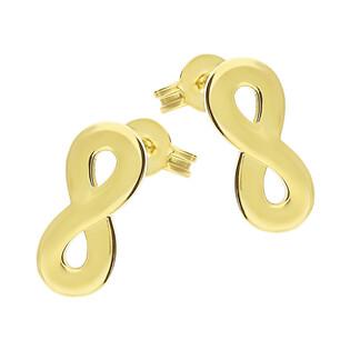 Kolczyki złote infinity blask/sztyft GS Y-EDC183113 próba 375