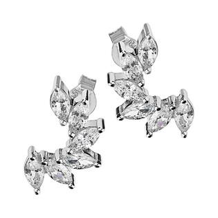 Kolczyki łuk z cyrkoniami w kształcie łezki/sztyft HS1024-1 próba 925