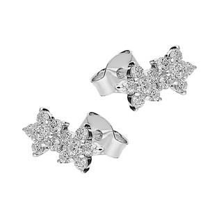 Kolczyki kwiatki z białymi cyrkoniami /sztyft HS1142 próba 925