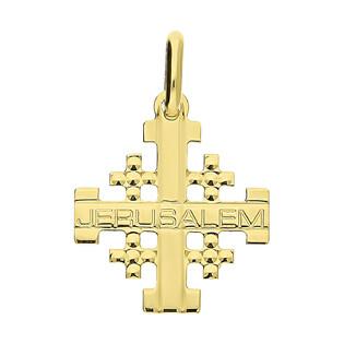 Krzyżyk złoty Jerusalem grawerowany KM C-741 próba 585