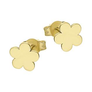 Kolczyki złote koniczyna blask nr KM580-1 próba 585