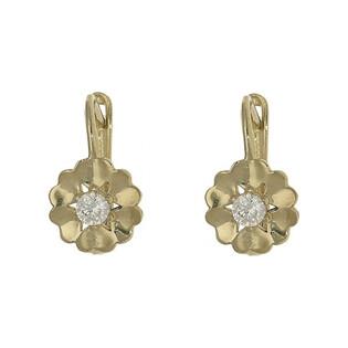 Kolczyki złote dla dziewczynki nr MZ T5-E-CK1025-CZ Au 333