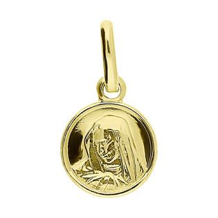 Medalik okrągły MB Bolesna KM M-0948 próba 585