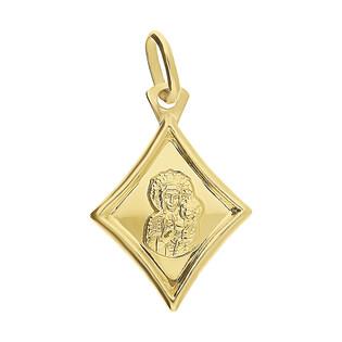 Medalik złoty Częstochowska w rombie KM M-7234 próba 333