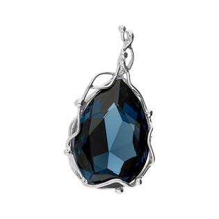 Zawieszka BRILAS WIRE kropla z kryształem Swarovski KP 05453 Metalic Blue próba 925