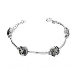 Bransoleta srebrna z kryształem Swarovski kolekcja Brilas nr KP 05548 Silver Night próba 925