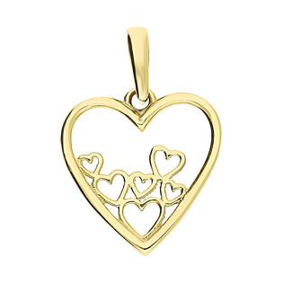 Serduszko złote serca w sercu ramka LP 13U25-DP0031-Y próba 375