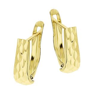 Kolczyki złote blaszki grawerowane/ang.zap. LP 22U20-CTK0023-4-Y próba 585